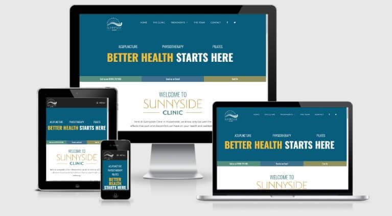Sunnyside Clinic Rossendale Website Design Responsive Layouts