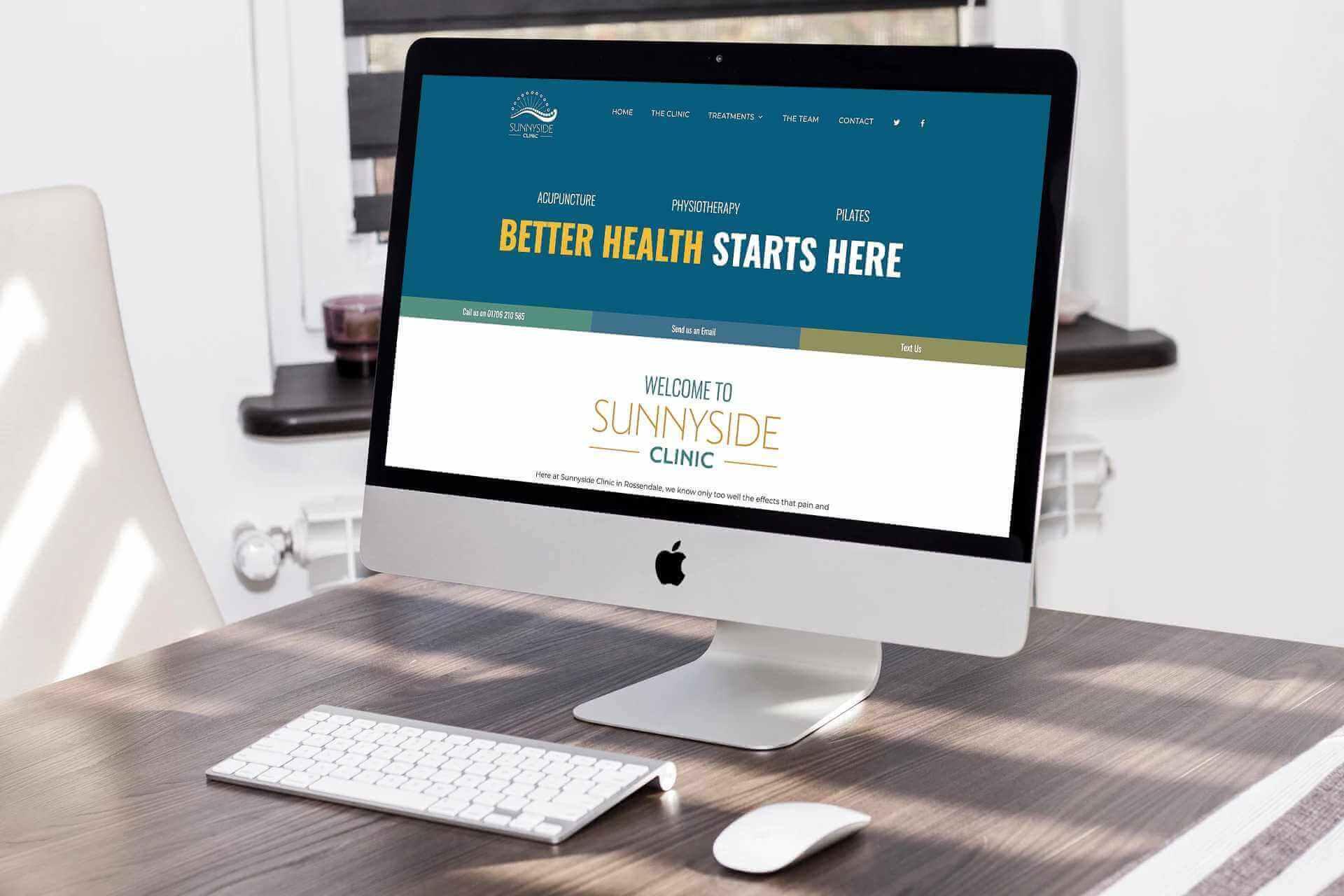 Sunnyside Clinic Apple iMac mockup image